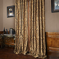 (Two Panels) Michelle Luxury® Rococo Vitage Flower Jacquard Energy Saving Curtain