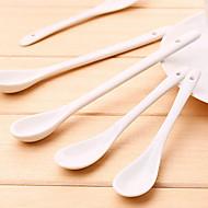 Louça China Café Leite Mini Branco colher de porcelana
