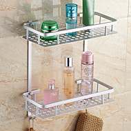 "Bathroom Shelf Aluminum Wall Mounted 315*375cm (11.5*14.75"") Aluminum Contemporary"