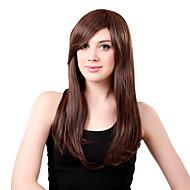 מפץ בלי כומתה, ארוך שיער סינטטי בראון ישר פאה סייד