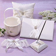 Classic Wedding Collection Set I Ivory Satin (5 stk)