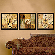Filiali in Jigsaw Puzzle stile Arte Stampa su tela con cornice Set di 3