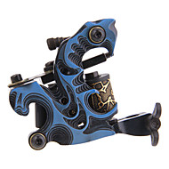 Aluminum Alloy 10 Wrap Coils Tattoo Machine Gun Liner Shader Blå