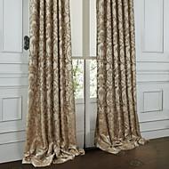 Dva panely Window Léčba Rococo , Květiny Ložnice Polyester Materiál záclony závěsy Home dekorace For Okno
