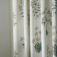 Two Panels  Michelle Luxury® Country Botanical Grass Print Eco friendly Curtains Drapes
