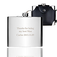 Gift Groomsman Personalized 32-oz Flask With Leather Sheath