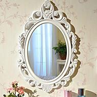"""10 """"Floral estilo clássico elegante branco Relógio de parede"""