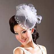 Women's Tulle / Imitation Pearl / Fabric Headpiece-Wedding / Special Occasion Flowers As the Picture