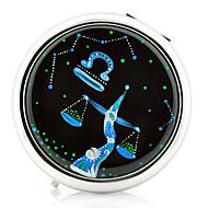 Libra Constellation Style Portable Metal Round Makeup spejl