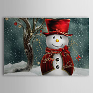 Stretched Canvas Art Holiday Christmas Snowman