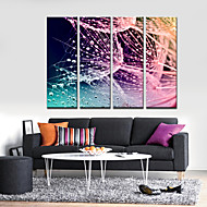 Stretched Canvas Print Art Abstract Nets and Waterdrops Set of 4
