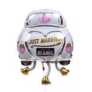 bryllup innredning bilen metallic ballong - bare gift