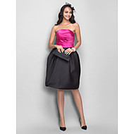 TS Couture® Cocktail Dress - Short Plus Size / Petite A-line / Princess Strapless Knee-length Satin with Draping / Side Draping