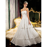 Sheath/Column Plus Sizes Wedding Dress - Ivory Floor-length Strapless Chiffon