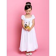 Sheath/Column Ankle-length Flower Girl Dress - Chiffon Short Sleeve