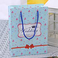 심장 패턴으로 밝은 하늘색 결혼식 호의 가방