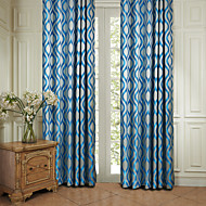 twopages® две панели рококо синей полосой энергосберегающие занавес драпировка