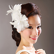 Feather Flowers Wedding Headpieces