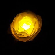 1PCS White LED Solar Powered Outdoor Lamp In Flower Design