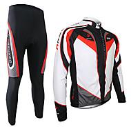 Arsuxeo® Fahrradtrikots mit Fahrradhosen Herrn Langärmelige FahhradAtmungsaktiv / warm halten / Rasche Trocknung / 3D Pad /