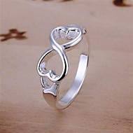 Ring Party / Daily Jewelry Silver / Sterling Silver / Alloy Band Rings6 / 7 / 8 / 9 Silver