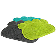 Stylish Paw Shape Mat for Pets Dogs Cats (Assorted Colors)