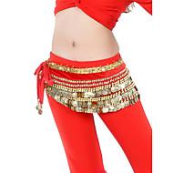 Belly Dance Belt Women's Training Velvet Beading / Coins Black / Blue / Green / Orange / Pink / Purple / Red / Royal Blue / White / Yellow