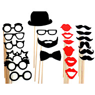 decoração do casamento máscara engraçado do partido barba fotografia foto adereços cabine (22 peças)