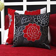 Conjunto de 2 China Flor Jacquard Polyester decorativa fronha