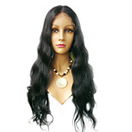 18inch vague superbe partie médiane cheveux remy indiens perruque avant de lacet