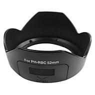 PH-RBC Lens Hood Sombra para Pentax DA 18-55mm f/3.5-5.6 AL WR Filtro 52 milímetros Thread (Preto)