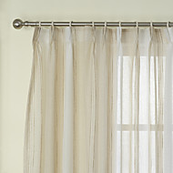 Two Panels Curtain Neoclassical , Stripe Bedroom Linen Material Sheer Curtains Shades Home Decoration For Window