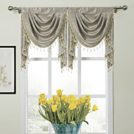 "Modern Classic Floral Glyphs Waterfall Valance 19W X 24""L (One Piece)"