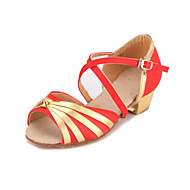 Stylish Kid's / Women's Satin Ankle Strap Latin / Ballroom Dance Shoes