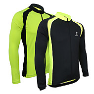 Arsuxeo menn Cycling Bike Bicycle Jersey Long Sleeve Outdoor Sporting Coat
