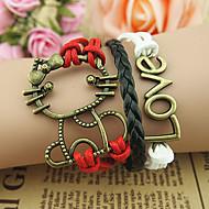 צמידים צמידי צ'ארם אהבה עיצוב מיוחד אופנתי Christmas Gifts תכשיטים מתנות1pc