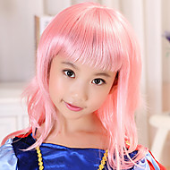 19.68 Inch 100% Kanekalon Little Pink prinsessa Christmas Festival Party Wig