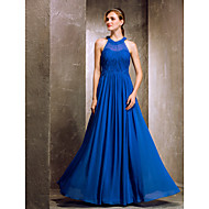 TS Couture® Floor-length Chiffon Bridesmaid Dress - Royal Blue Apple / Hourglass / Inverted Triangle / Pear / Rectangle / Plus Sizes / Petite / Misses