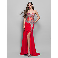 A-line/Princess Sweetheart Floor-length Jersey Evening Dress