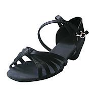 satijn bovenste ballroom praktijk dansschoenen latin schoenen voor vrouwen / kids meer kleuren