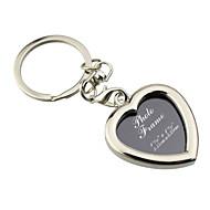 Személyre szabott gravírozott ajándéktárgyak Kreatív szív alakú képkeret kulcstartó (Set of 6)
