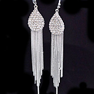 עגיל עגילי טיפה תכשיטים 2pcs סגסוגת נשים כסף