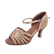 Aangepaste Woman Satin Zes Streep dansschoenen voor Latin / Ballroom Sandalen