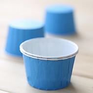 50 턴업 세트를 가진 고체 색상 종이 컵 케이크 포장지 (색상 선택)