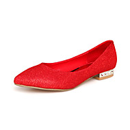 Women's Spring / Summer / Fall Ballerina Suede Wedding Flat Heel Red / Gold