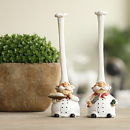 """8""""H Country Style Cook Shape Collectible(2 PCS)"""