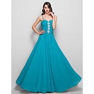 Formal Evening/Prom/Military Ball Dress - Jade Plus Sizes Sheath/Column Spaghetti Straps Floor-length Chiffon