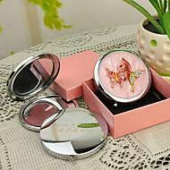 Gepersonaliseerde Gift van de Vlinder Style Pink Chrome compacte spiegel