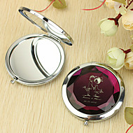 Personlig gave Lover Mønster Chrome kompakt spejl