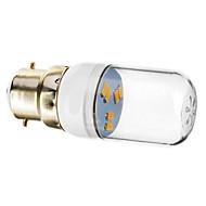 B22 1W 6x5730SMD 70-90LM 2800-3200K Warm White Light LED Spot Bulb (220-240V)
